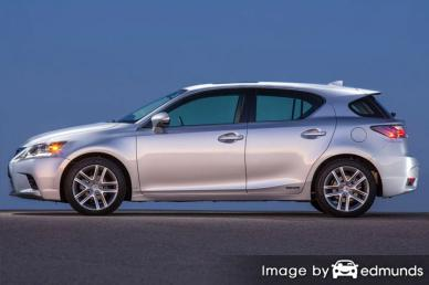 Insurance rates Lexus CT 200h in Dallas