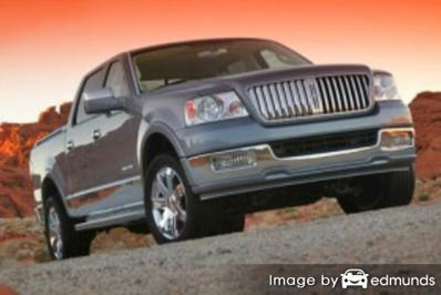 Insurance rates Lincoln Mark LT in Dallas